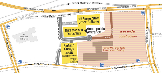 Hill Farms State Office Building map