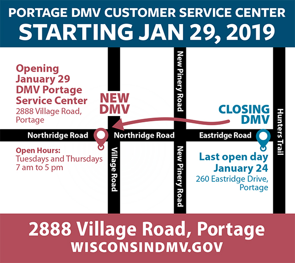 Wisconsin Department of Transportation Portage DMV Service Center's