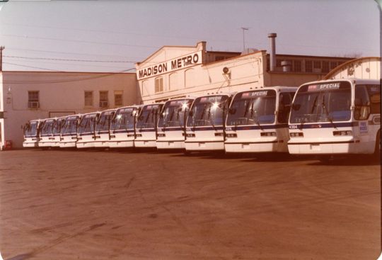 Wisconsin department of transportation historical photo gallery madison metro new buses 1979 sciox Gallery