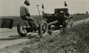 Mowing along a Dane County Road - 1940