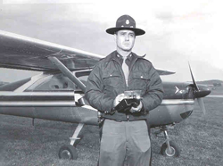 Trooper Walker and his aircraft.
