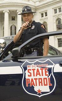 Officer Talking On Radio