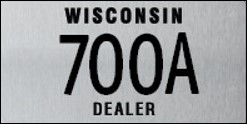 Moped Dealer Plate