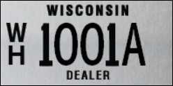 Wholesale Dealer Plate