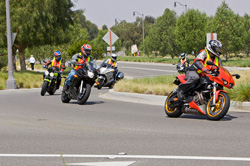 motorcycles turning