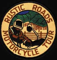 Rustic Roads Motorcycle Tour patch
