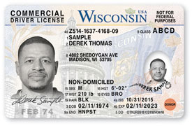 Non-domiciled indicates the CDL license holder is a temporary visitor with legal status