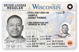 A star indicates card is compliant with federal REAL ID requirements