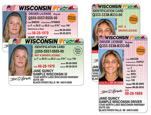 Driver license number format for Wisconsin drivers license template