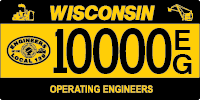 Operating engineers license plate