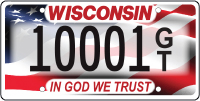 In God We Trust license plate.