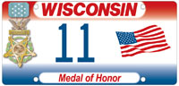 Medal of Honor license plate.