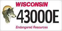 Endangered resources license plate - Wolf design reissued in 2007