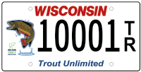 Trout Unlimited license plate
