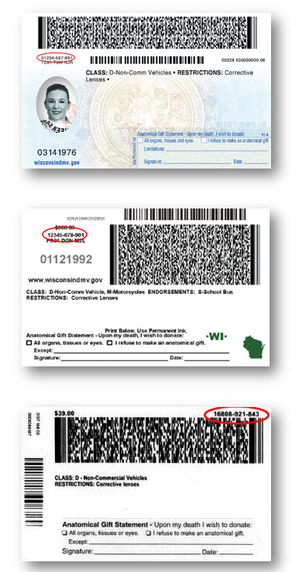 wisconsin drivers license template - wisconsin dmv official government site product number