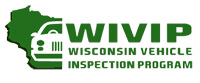 Wisconsin vehicle inspection program green logo