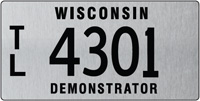 Demonstrator trailer/semi-trailer license plate