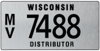 Distributor license plate issued 2011