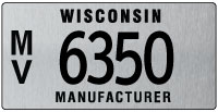 Manufacturer license plate issued 2011