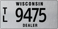 Trailer dealer license plate issued 2011