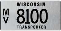 Transporter license plate issued 2011