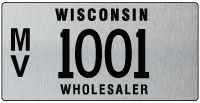 Wholesaler license plate issued 2011