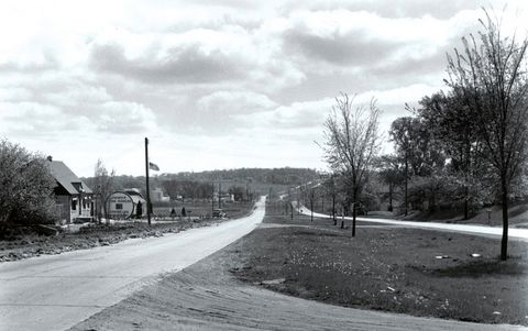 Historical view of Blue Mound Road