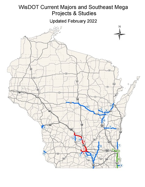Wisconsin Department of Transportation Major Highway