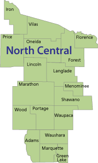 North Central region of Wisconsin