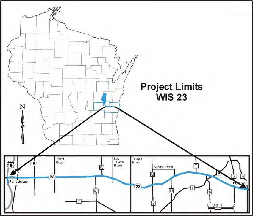 Porject limits map Wis 23
