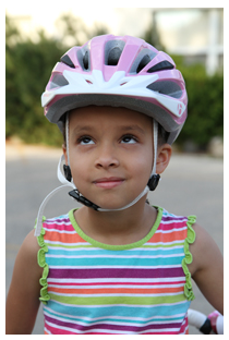 Bike Helmet correct forward tilt
