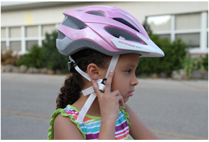 Bike Helmet v-strap adjustment