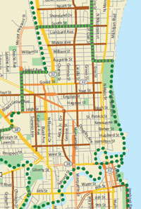 Wisconsin Department of Transportation Urban bicycle maps