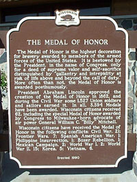 The Medal of Honor historical marker
