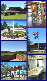 Grant County rest area collage