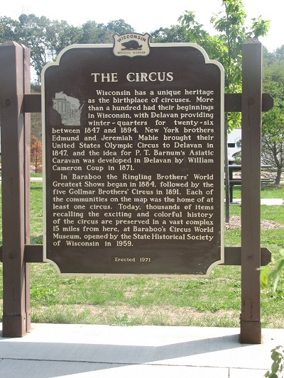 The Circus Historical Marker located on site.