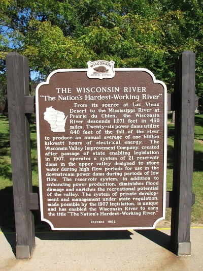 Wisconsin River Historical Marker