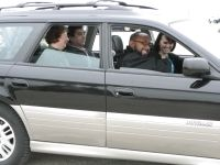 A group of people carpooling
