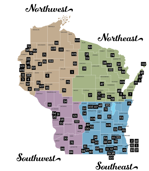 Wisconsin Department Of Transportation Rustic Road Maps And - Wisconsin maps