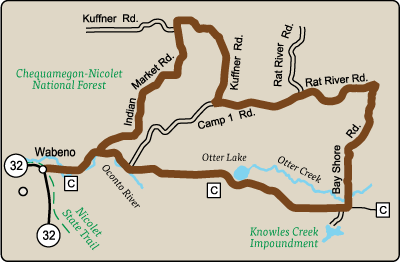 Map of Rustic Road 118