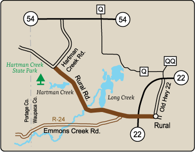 Map of Rustic Road 23