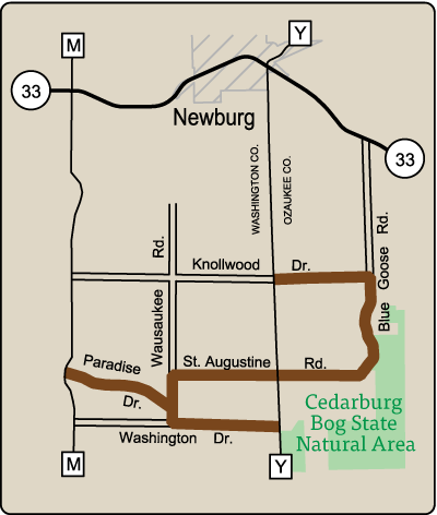 Map of Rustic Road 52