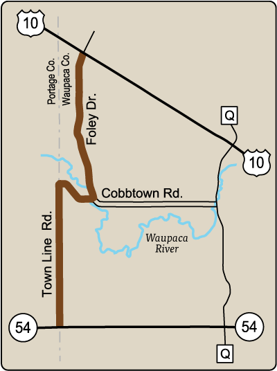Map of Rustic Road 57