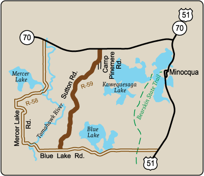 Map of Rustic Road 59