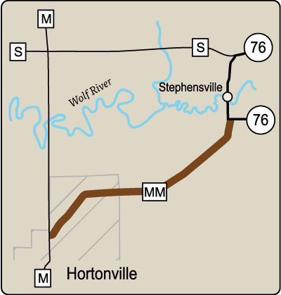 Map of Rustic Road 61