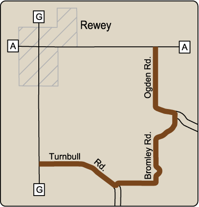 Map of Rustic Road 75