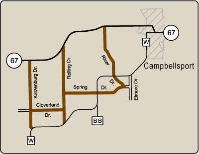 Map of Rustic Road 82