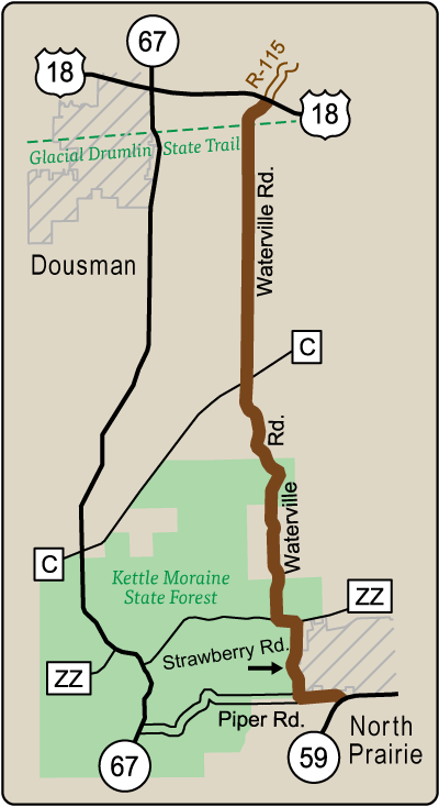 Map of Rustic Road 86