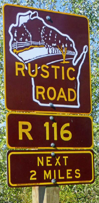 Photo of a Rustic Road sign