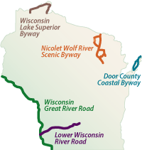 Nationally designated byways in Wisconsin
